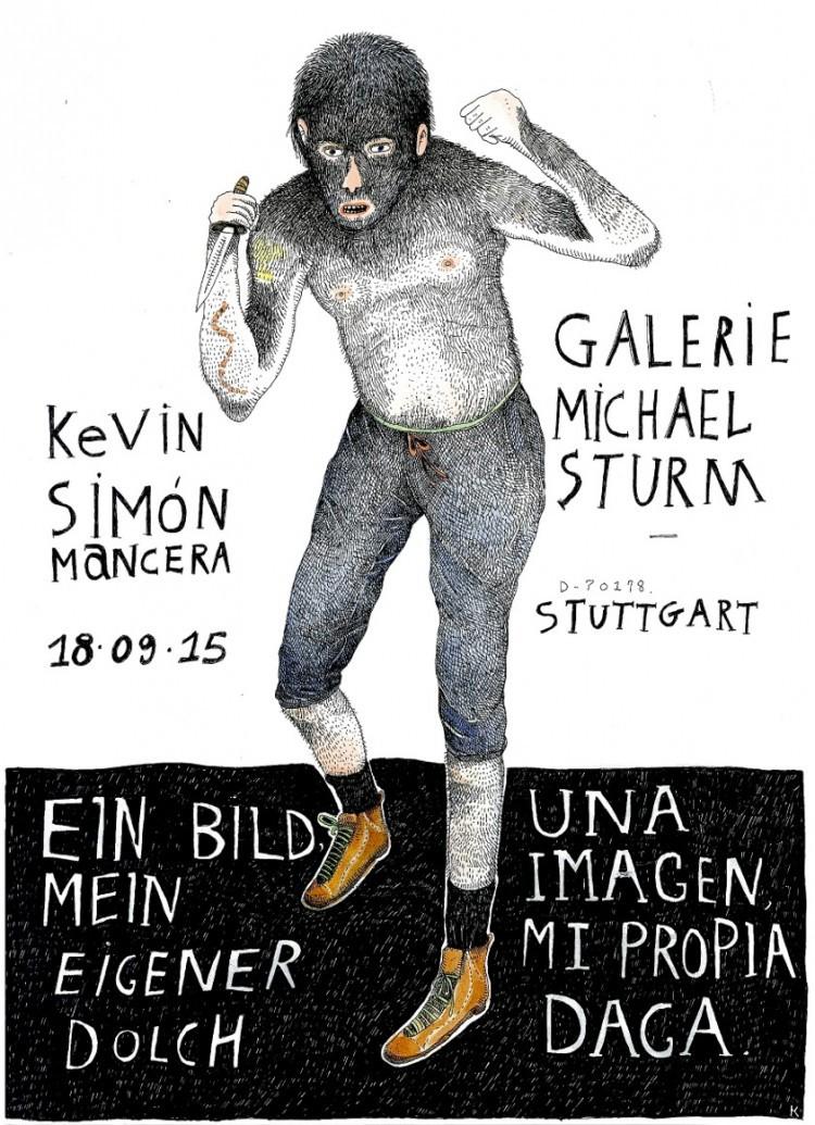 Kevin Simón Mancera – UNA IMAGEN, MI PROPIA DAGA, 2015, Wasserfarbe und Tusche, 42 x 29,5 cm