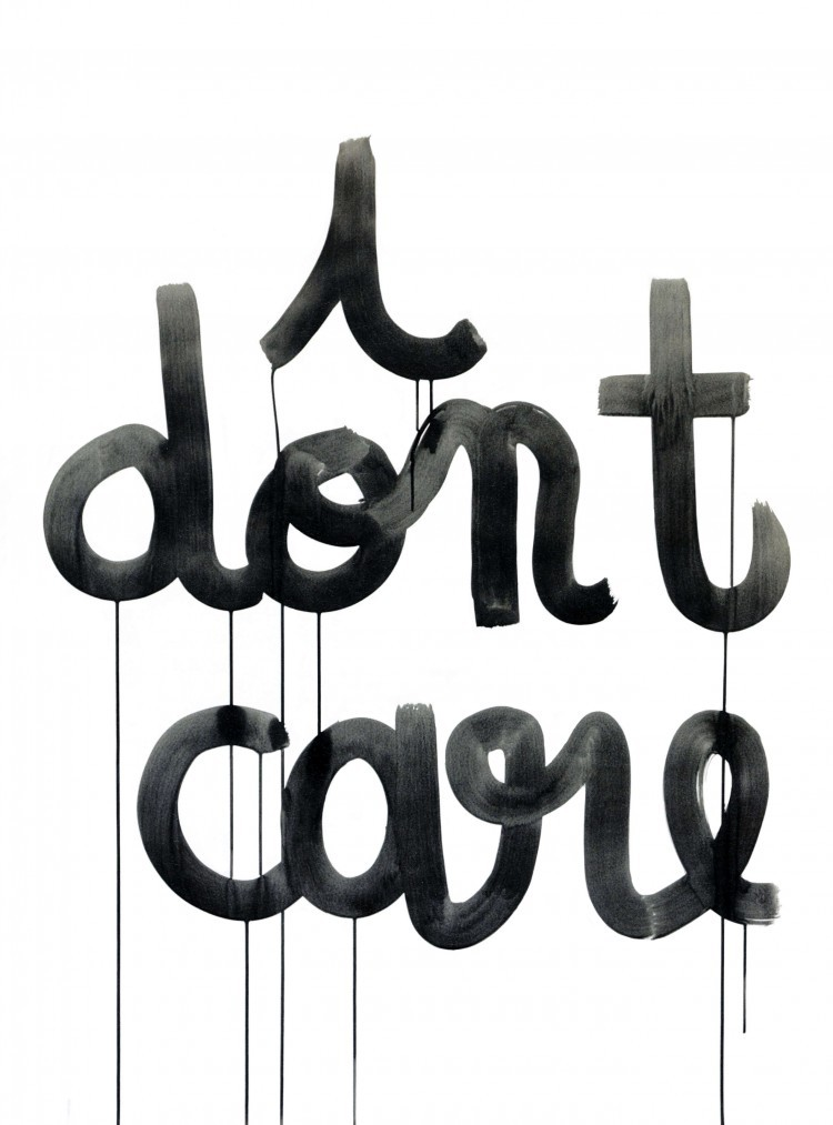 Anne-Lise Coste, I don't care, 2006, Tusche auf Papier, 130 x 95 cm